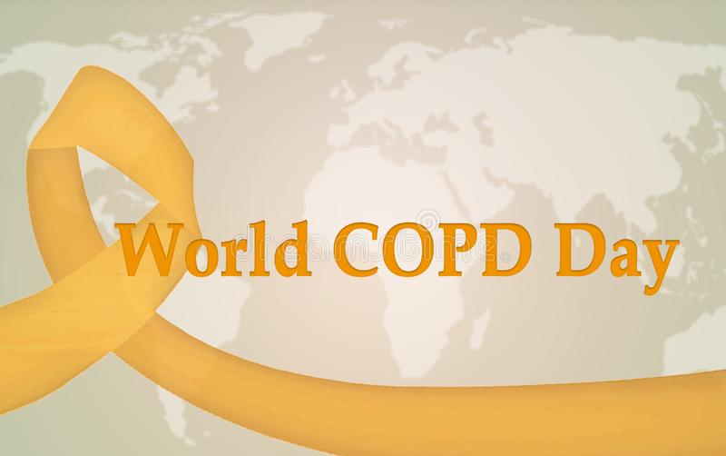 World COPD day royalty free illustration