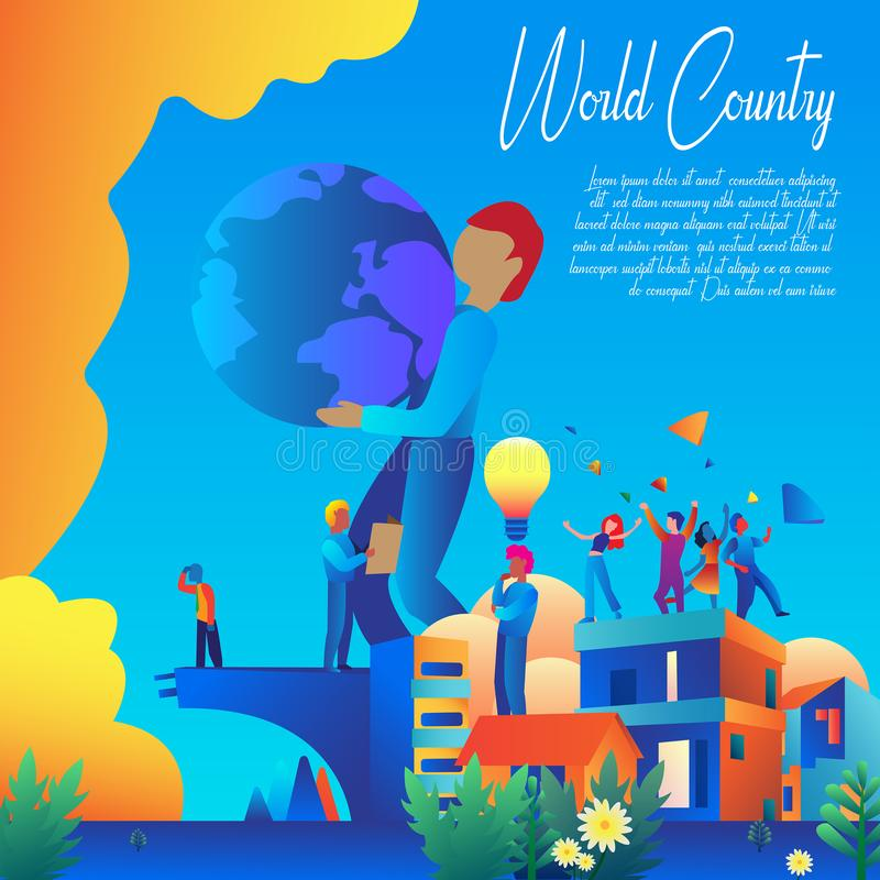 World Country Banner Vector Design royalty free stock photography