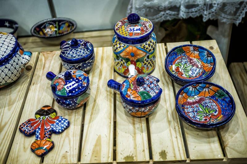 World Craftwork Fair of Havana 4. HAVANA - DECEMBER 16 2017 - Craft works at FIART, World Craftwork Fair, gather artists and exhibitors from Cuba and worldwide stock photo