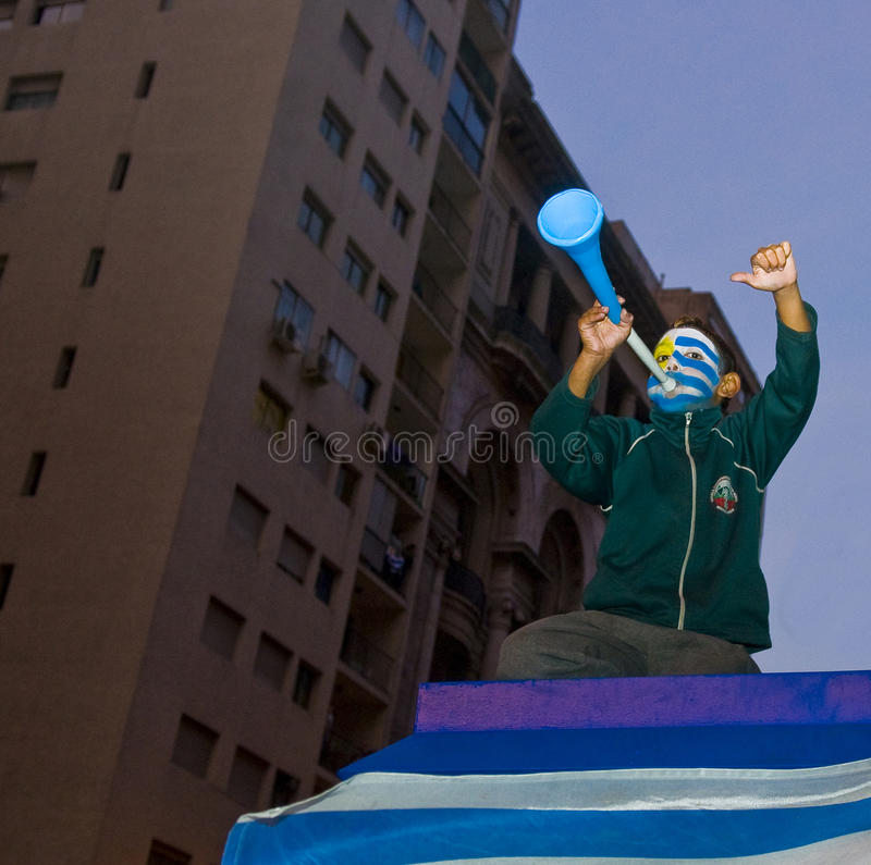 World cup 2010 in Montevideo Uruguay royalty free stock images