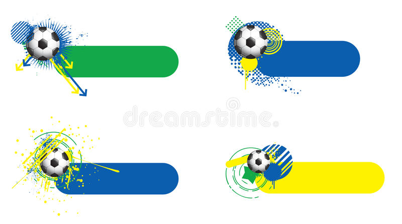 World cup banners royalty free illustration