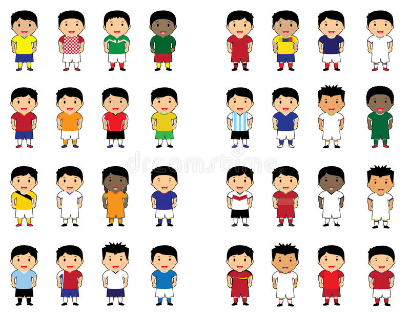 World cup cartoon cute royalty free stock photography