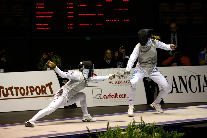 Download World Cup Foil Women Senior 2009, Fencing Editorial Stock Photo - Image: 8658313
