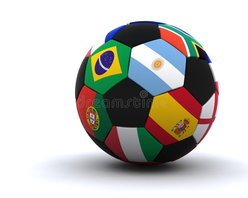World cup football 2010 royalty free illustration