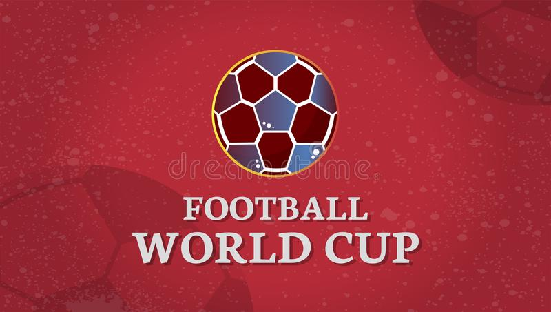 World cup football match advertisement royalty free illustration