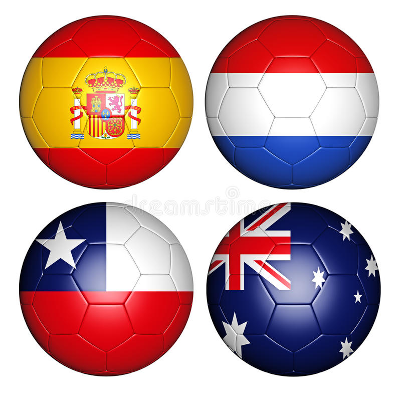 World cup 2014 group B vector illustration