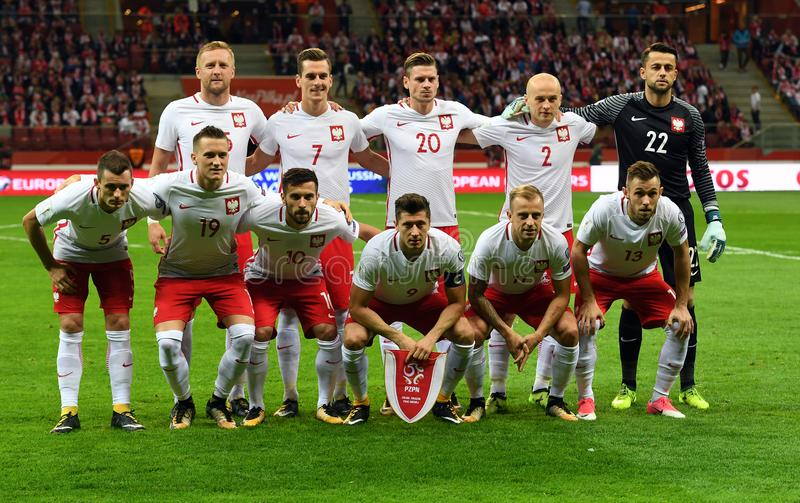 World Cup Rusia 2018 qualification match Poland - Kazakhstan. 4 SEPTEMBER, 2017 - WARSAW, POLAND: Football World Cup Rusia 2018 qualification match Poland royalty free stock photos