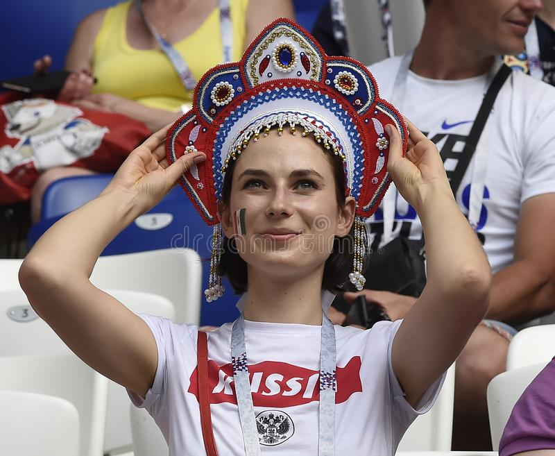 WORLD CUP 2018 Soccer Fans stock photos