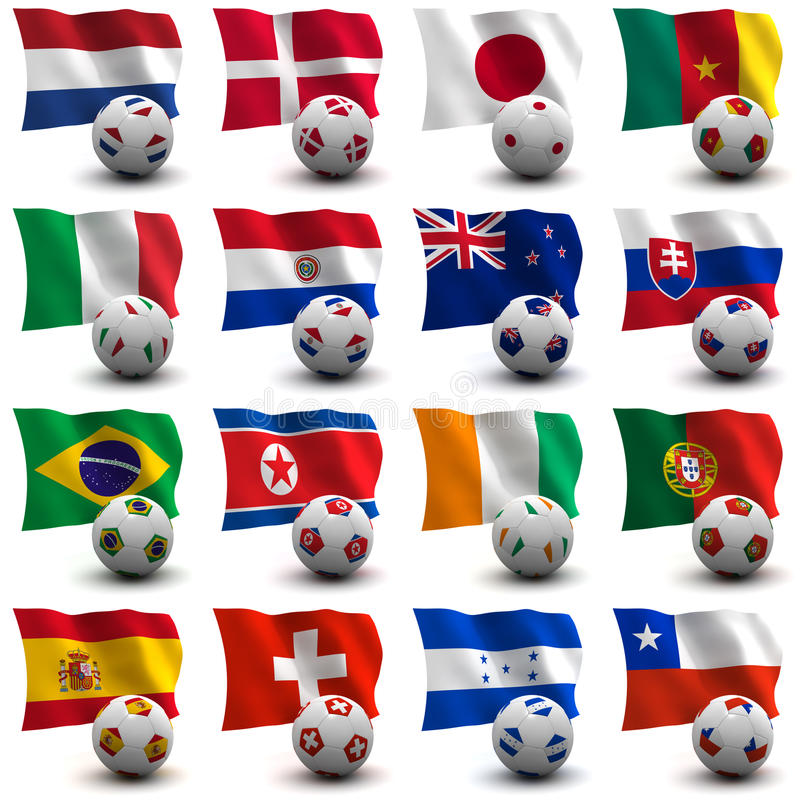 World Cup Soccer - South Africa 2010 royalty free illustration