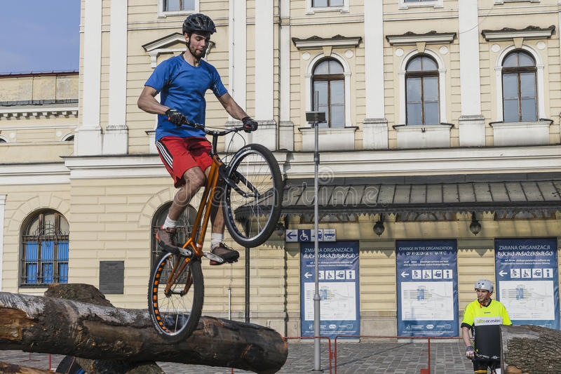 World Cup in Trial bicycles royalty free stock photos
