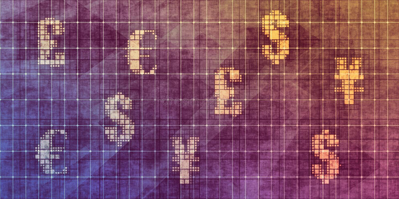 World Currencies. Abstract Background as Business Concept vector illustration