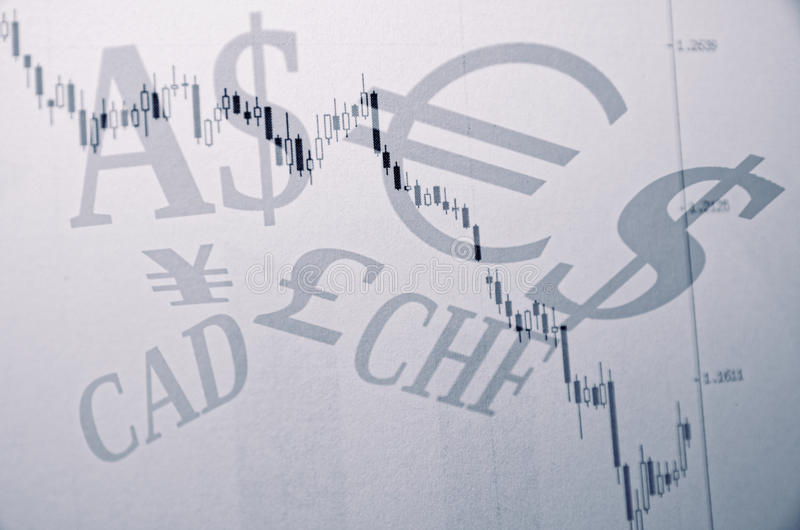 World currencies. Forex chart & world currencies sign royalty free stock images