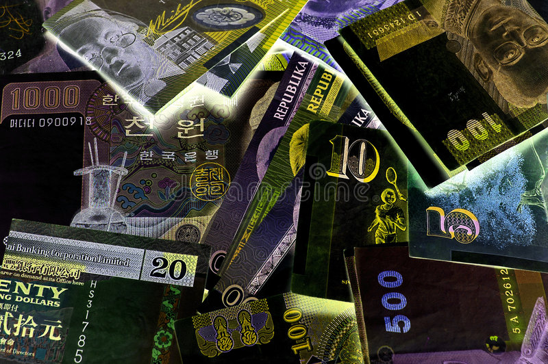World Currency 1 royalty free stock photos