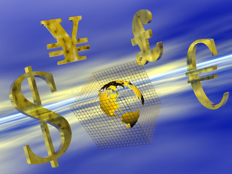 World Currency. Royalty Free Stock Images