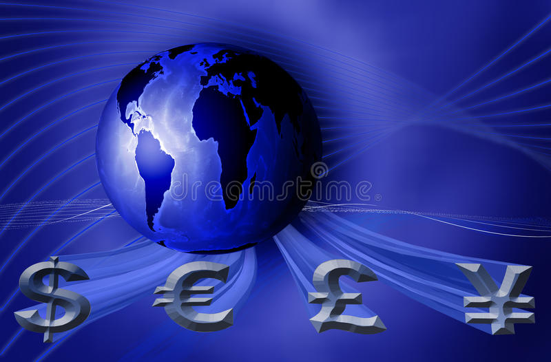 World currency business vector illustration