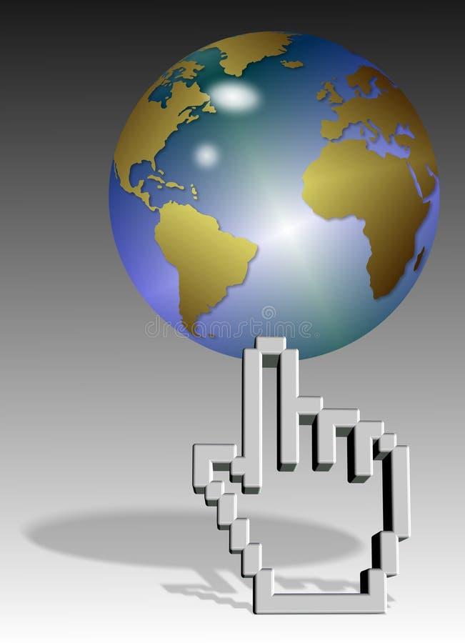 Download World on cursor stock illustration. Image of design, mouse - 25858562