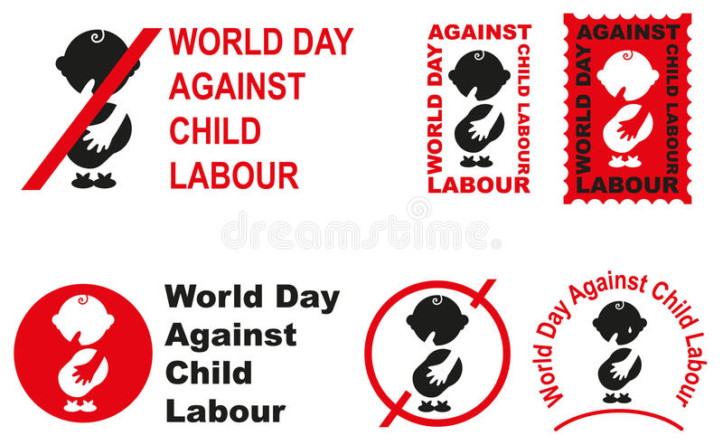 World day against child labour royalty free illustration