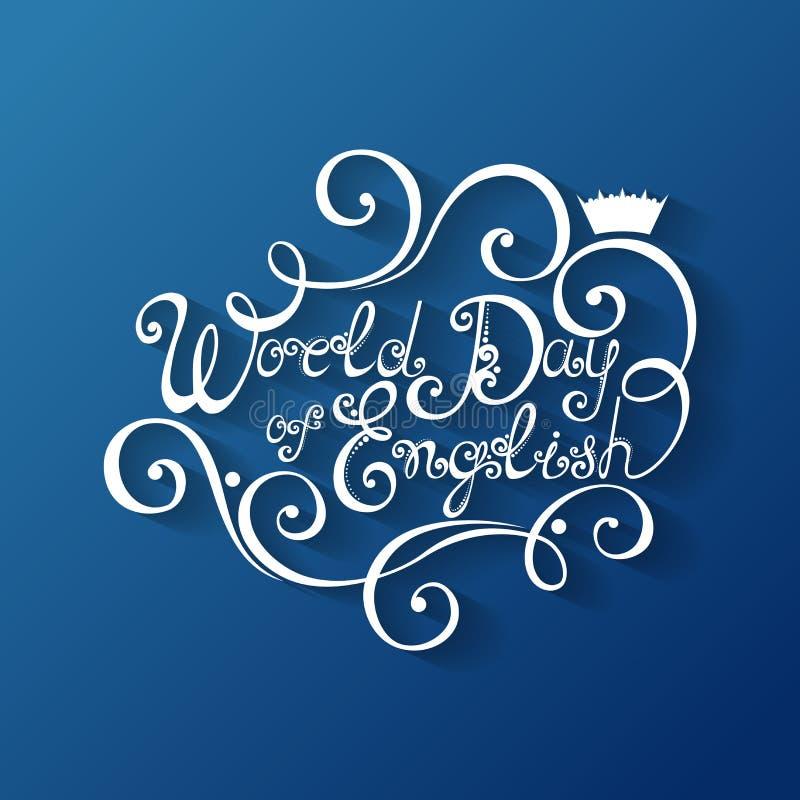 World Day of English Inscription stock illustration