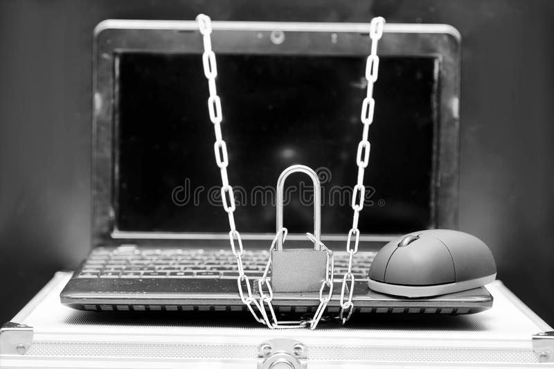 World Day without internet. Items of computer equipmentr stock photo