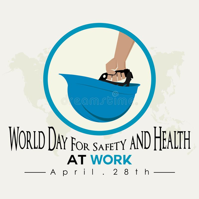 World day for Safety and Health at Work vector illustration