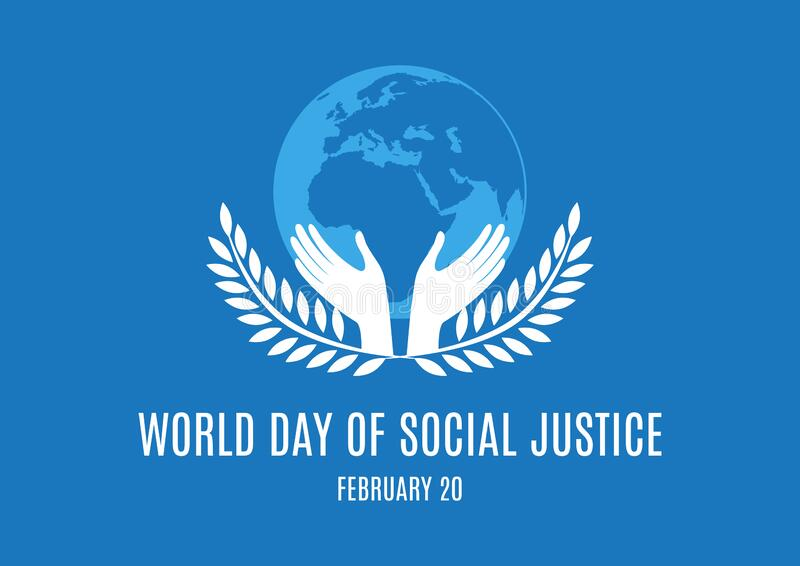 World Day of Social Justice vector stock image