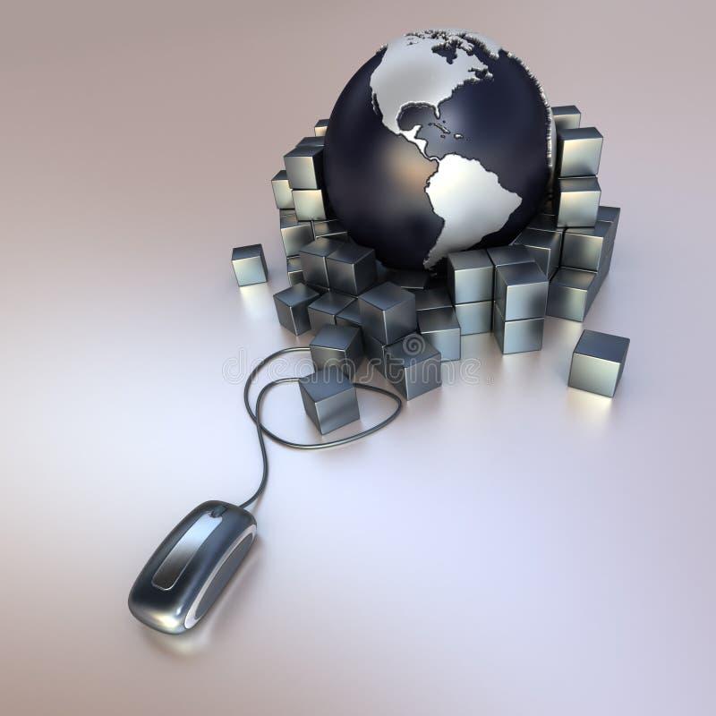 World delivery online stock illustration