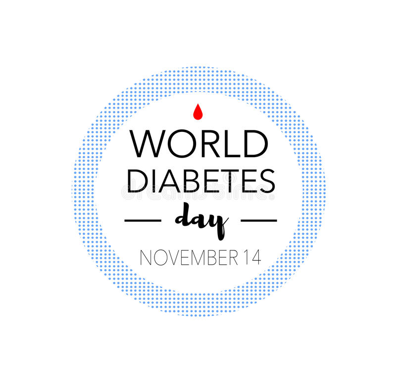 World diabetes day, november 14th royalty free stock photography