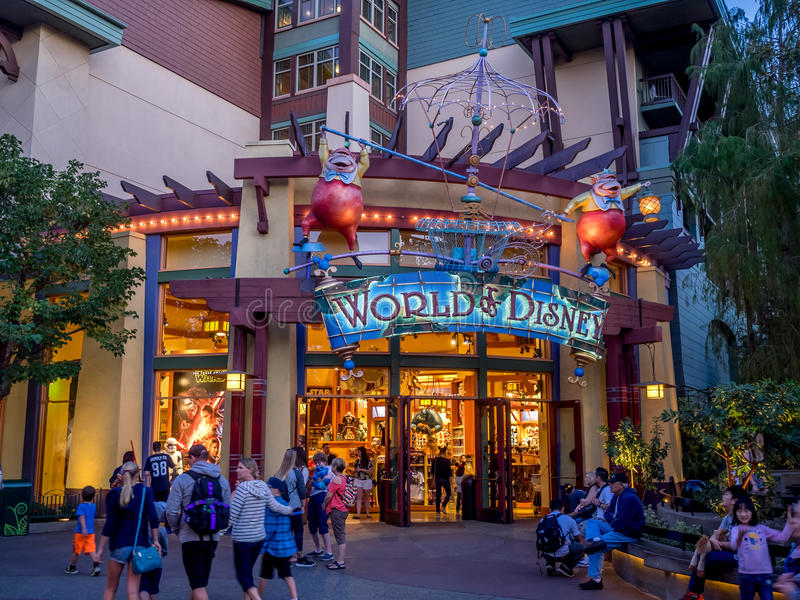 World Of Disney Store At Downtown Disney Editorial Photo