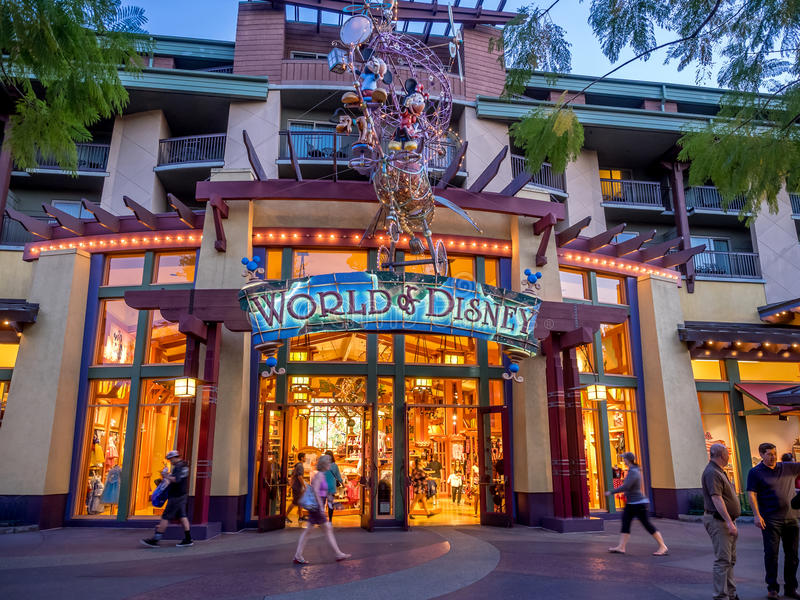 World Of Disney Store At Downtown Disney Editorial Stock
