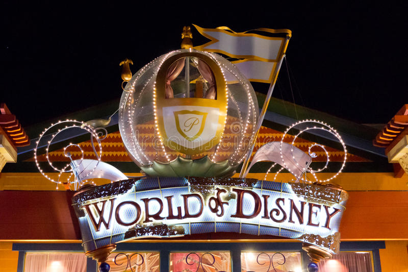 World of Disney. Store Downtown Disney stock image