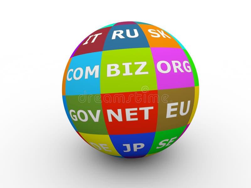 World domains sphere vector illustration