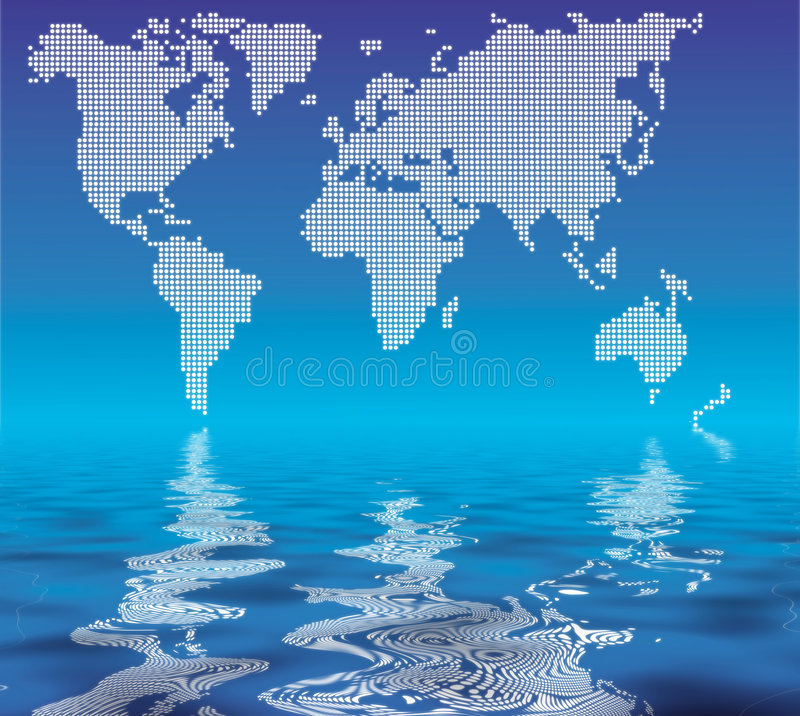 Download World In Dots Stock Photo - Image: 2268460