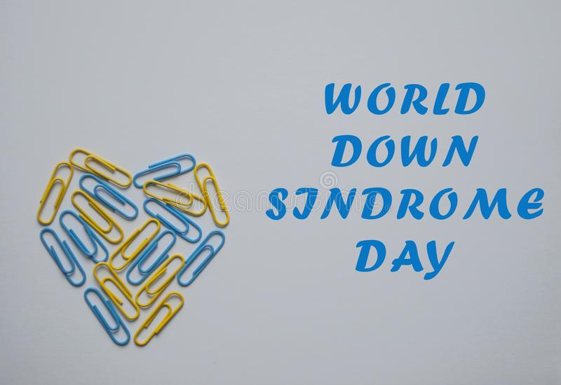World Down Syndrome Day Symbol  Stock Image - Image of hands