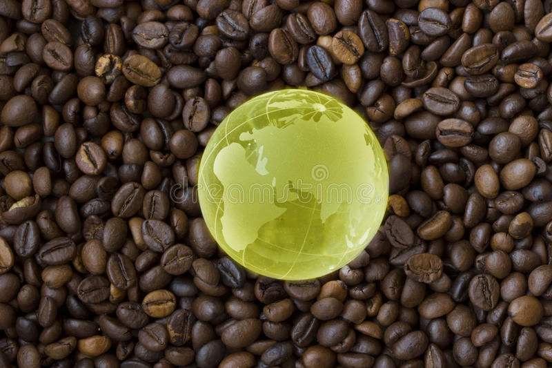 World only drinks coffee royalty free stock photos