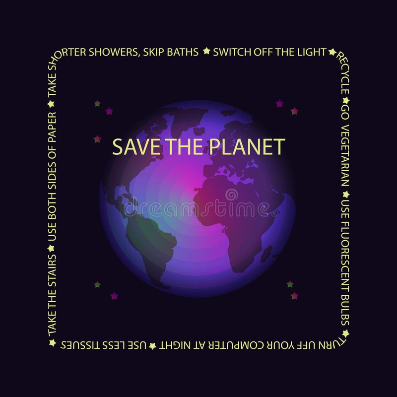 World Earth day concept. Vector illustration. royalty free illustration