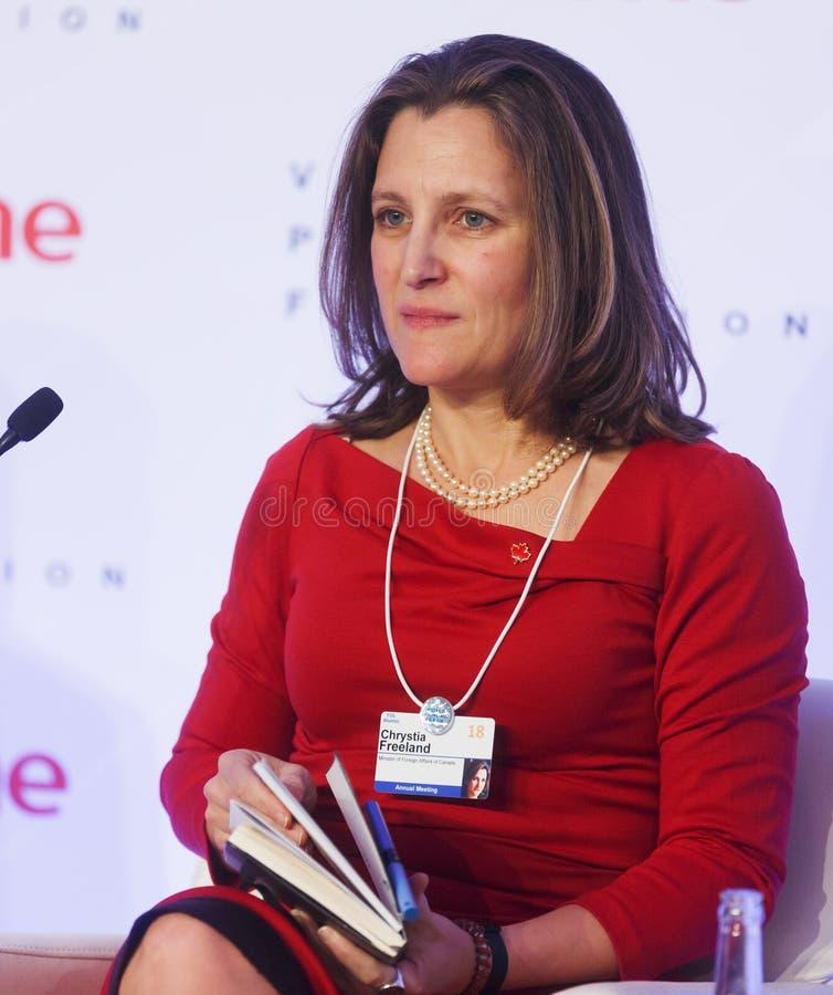 World Economic Forum årsmöte 2018 i Davos royaltyfri fotografi