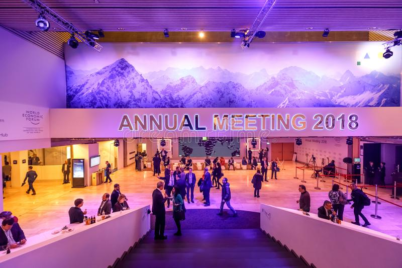 World Economic Forum årsmöte i Davos royaltyfri bild