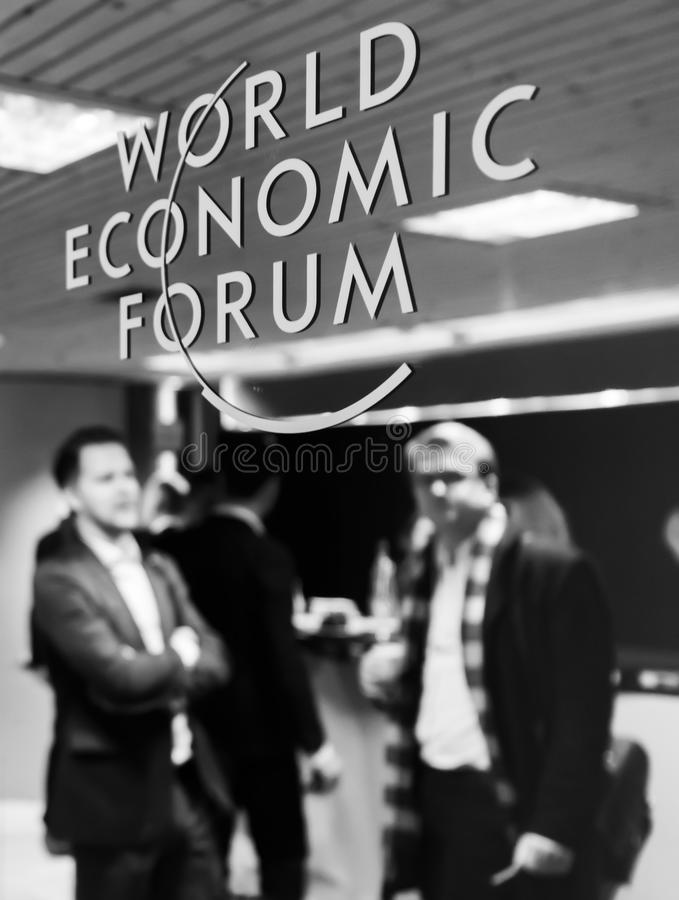 World Economic Forum årsmöte i Davos, Schweiz arkivfoto