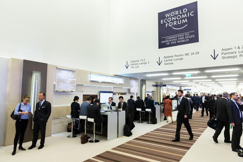 World Economic Forum in Davos (Switzerland) stock photography