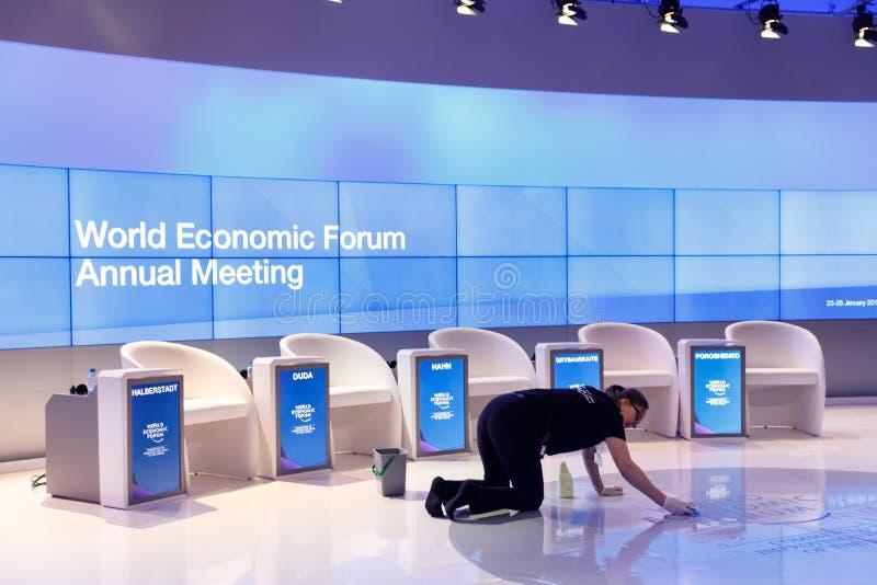 World Economic Forum i Davos royaltyfri fotografi