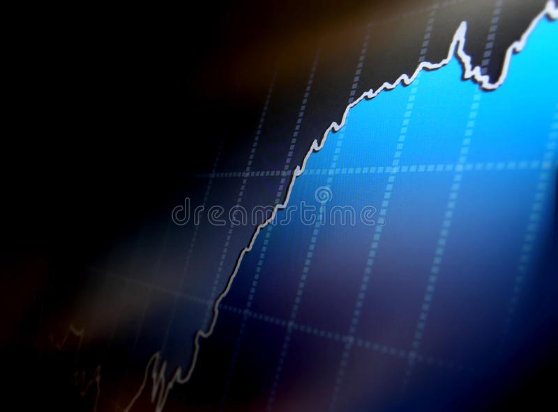 World economics graph. stock illustration