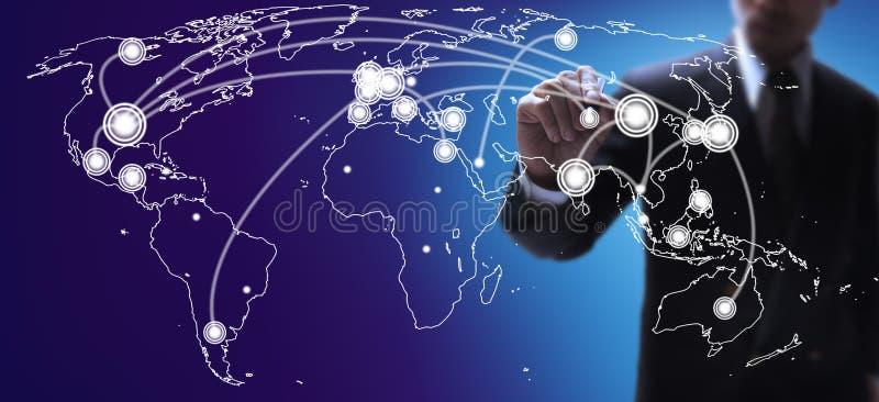 World economies map stock photo