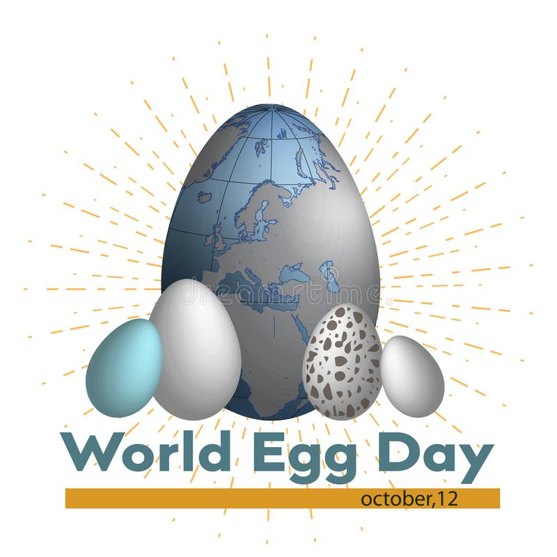 World Egg Day Vector illustration. Suitable for greeting card, poster and banner. vector illustration