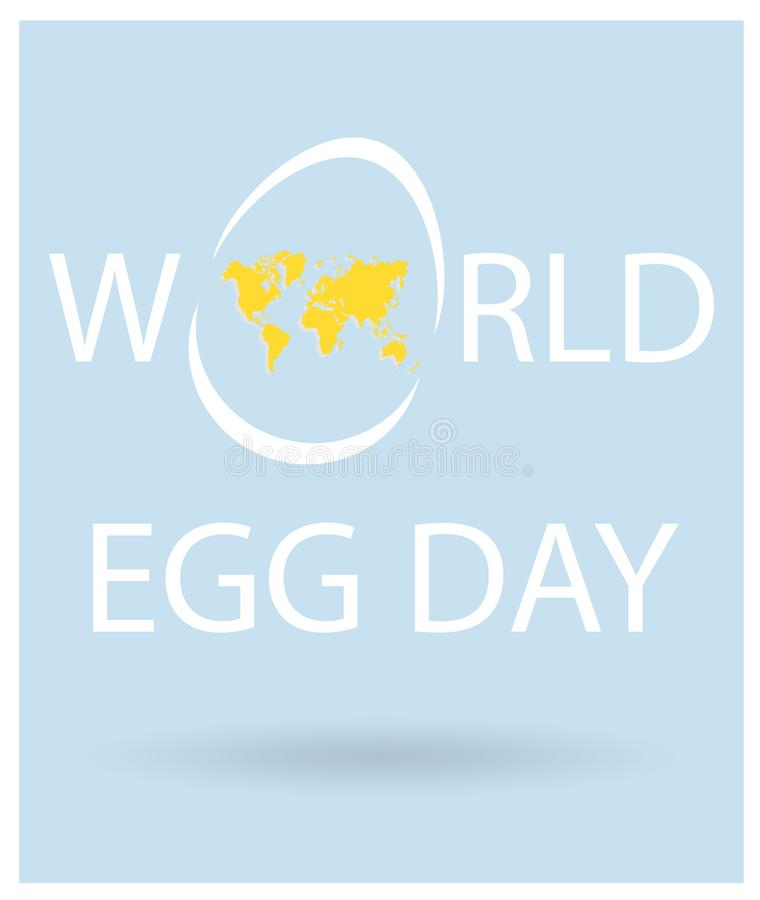 World egg day vector lettering with egg with yellow world map text download world egg day vector lettering with egg with yellow world map text for holiday gumiabroncs Images