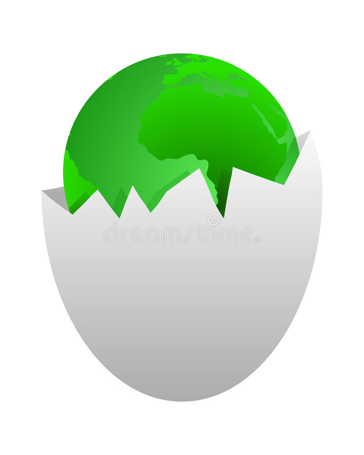 Download World in egg shell stock vector. Image of nature, continent - 16014055