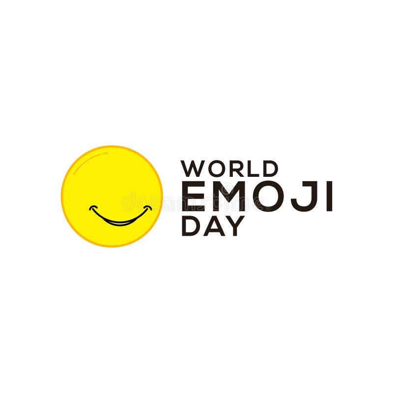 World Emoji Day Celebration Vector Template Design Illustration. International, card, face, isolated, icon, people, yellow, symbol, white, smile, man, fun stock illustration