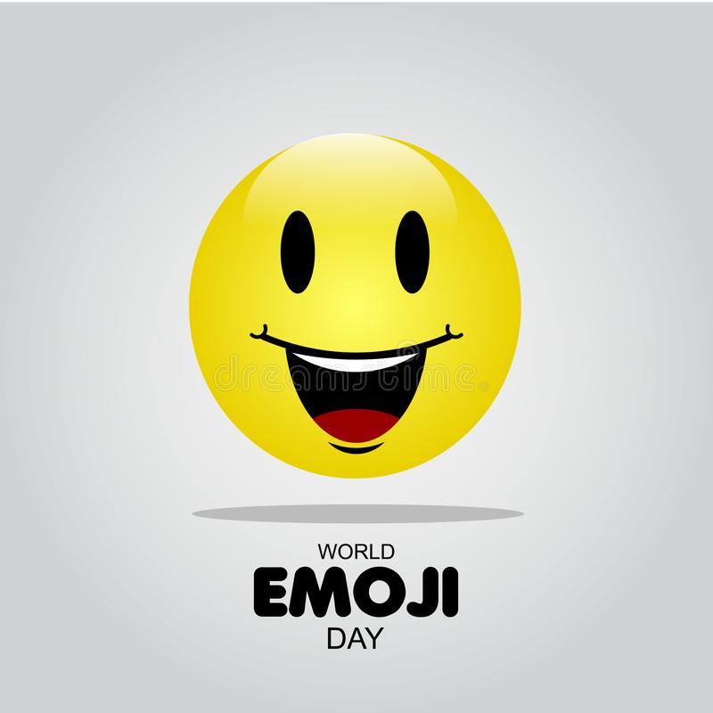 World Emoji Day Vector Template Design Illustration. White face isolated card people symbol yellow smile man fun banner icon cheerful joy cartoon set expression vector illustration