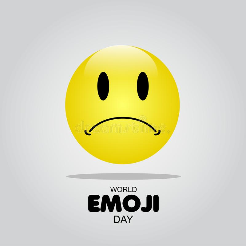 World Emoji Day Vector Template Design Illustration. White face isolated card people symbol yellow smile man fun banner icon cheerful joy cartoon set expression royalty free stock photography