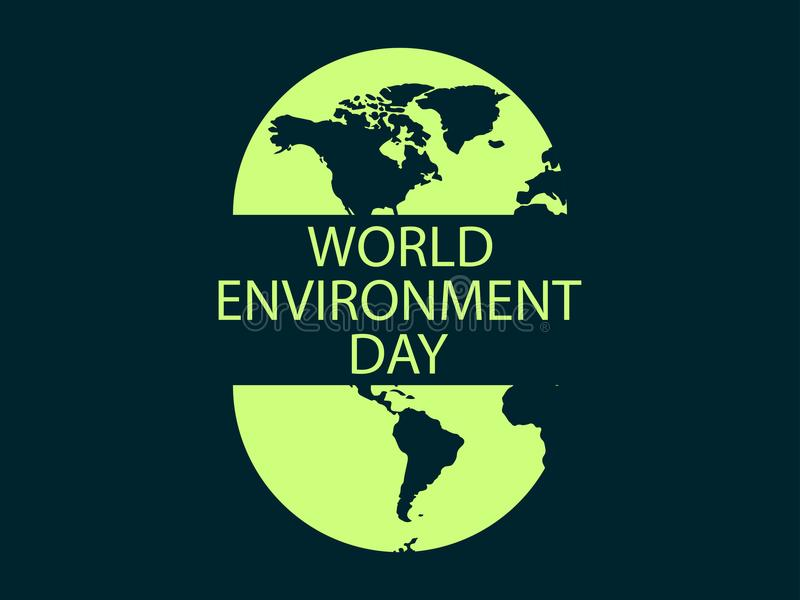 World Environment Day, banner design, logo design. Protection of nature and ecology. Vector royalty free illustration
