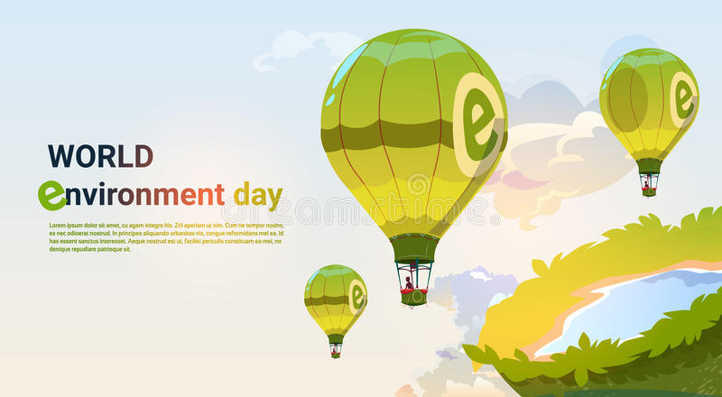 World Environment Day Ecology Protection Holiday Greeting Card vector illustration
